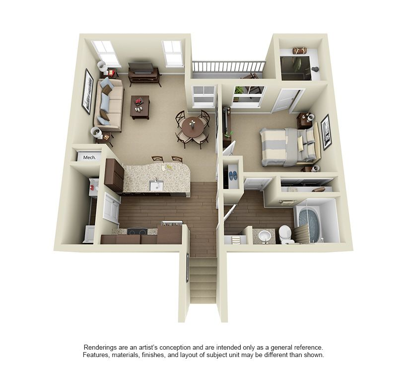 The Cahaba At 771 Square Feet Apartment Layout Sims House Architectural Floor Plans