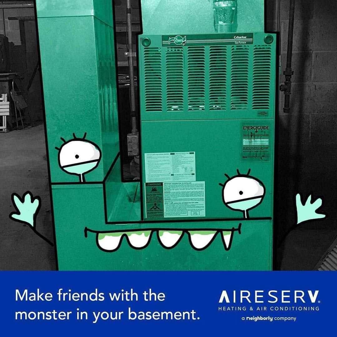 Your Hvac System Shouldn T Be Scary Aire Serv Your Guide To Clean Comfortable Air Never An Overt Heating And Air Conditioning Hvac System Locker Storage