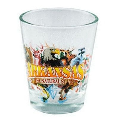 """arkansas shot glass 2.25h x 2"""" w natural state Case of 96"""