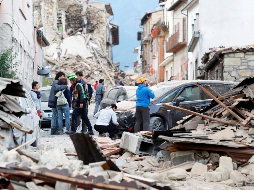 At least 38 dead as strong earth quake rocks central Italy