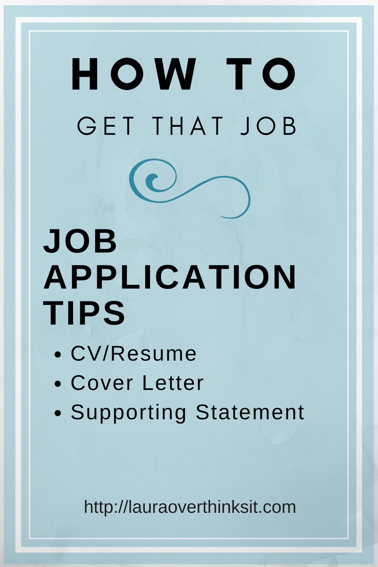 Getting a Job Part 1 Application Form Tips