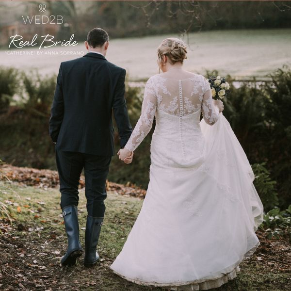Real Brides Wed2b: We Love This Photo Of Our Stunning Real Bride Kate Wearing