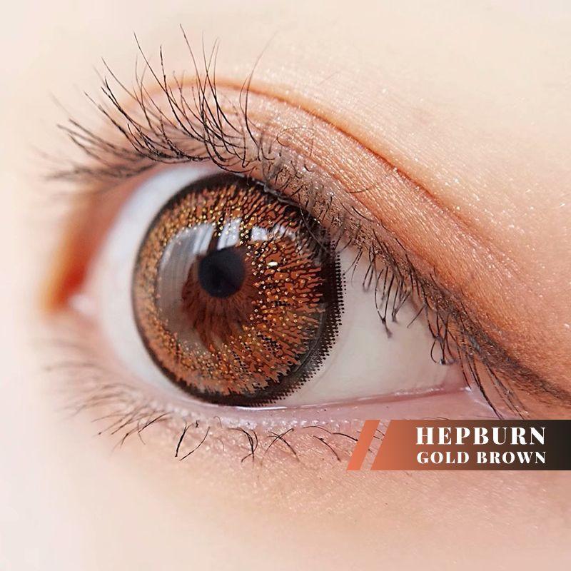 Circlecolour Com Hepburn Gold Brown Enlarge Colored Contacts Lens Colorcontactsonline Coloredco Contact Lenses Colored Colored Contacts Best Colored Contacts