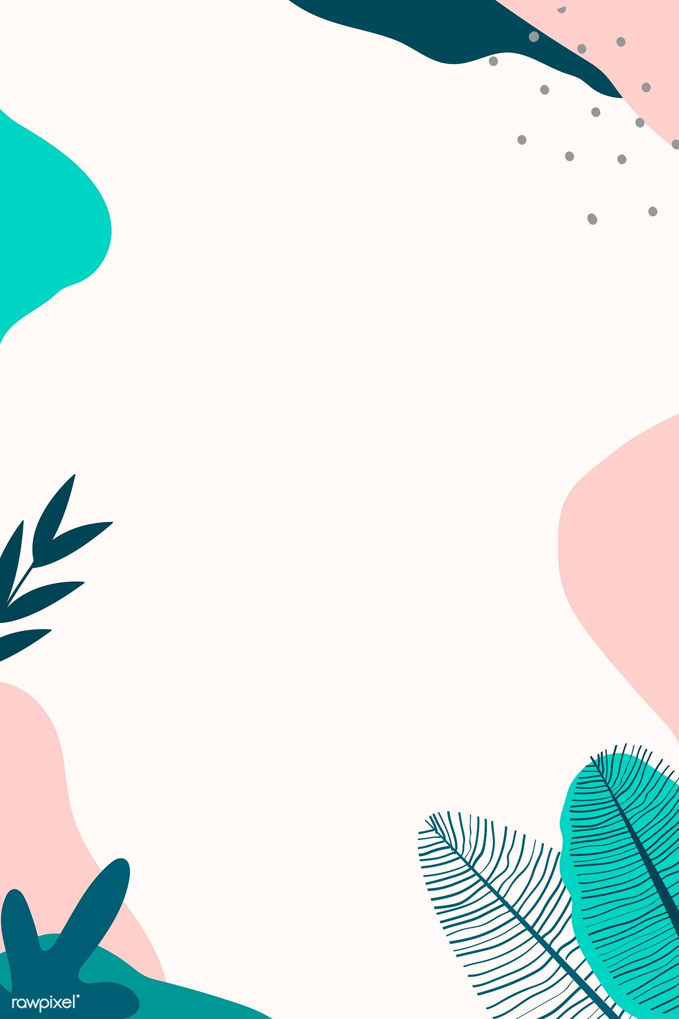 Download premium vector of Beige and green abstract botanical patterned