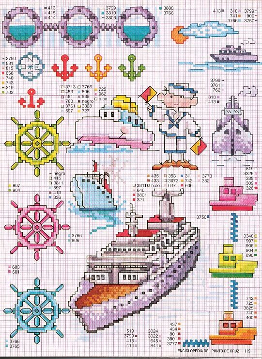 Fishing Boats in the Bay of Naples Hand embroidery pattern Counted cross stitch pattern PDF cross stitch chart Cross stitch pattern