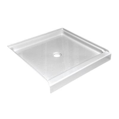 Lyons Industries Elite 42 In X 42 In Single Threshold Shower Base In White Leb014242 At The Home Depot 217 Shower Base Shower Bases Shower