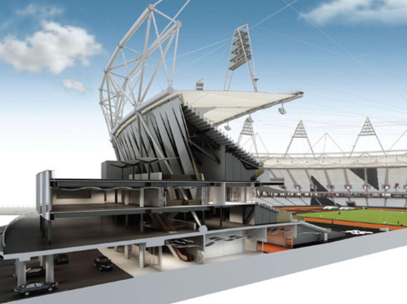 Pictures Building London S Olympic Stadium Stadium Architecture Stadium Design Construction Details Architecture