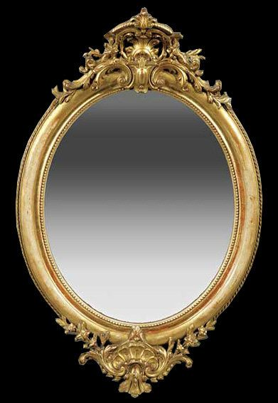 pretty oval wall mirrors with gold carved metal frame as well as decorative large mirrors plus