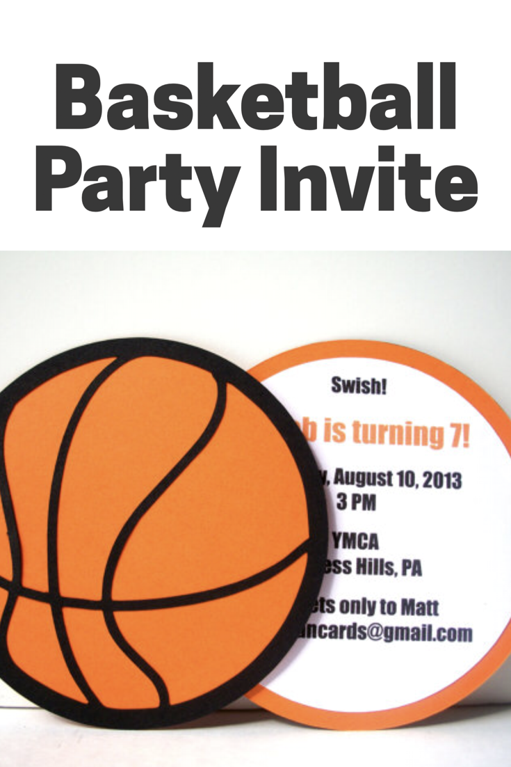 Perfect invitation for a basketball party! Great for birthday ...