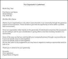 Format For Sponsorship Letter Stunning How To Get Team Sponsorships