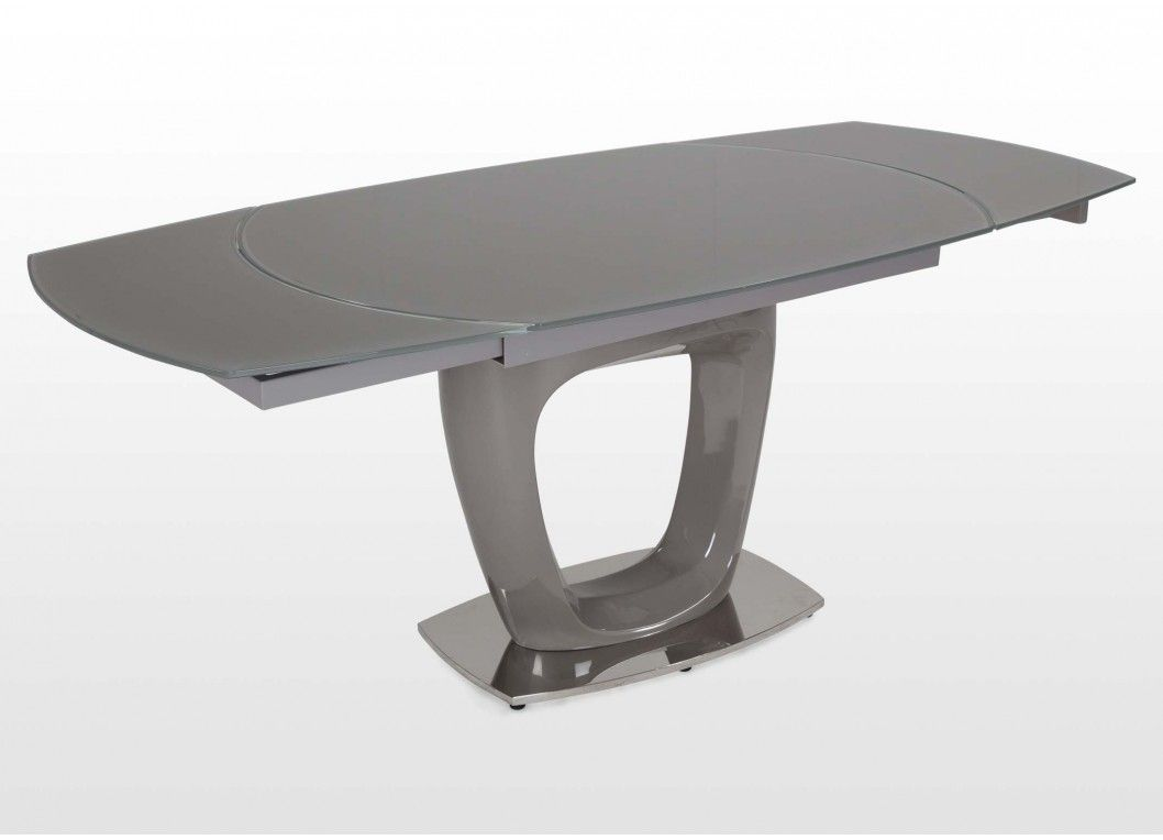 Modern Extendable Glass & Metal Dining Table - Park Avenue