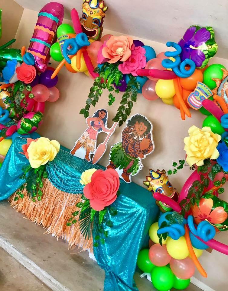 Moana balloon decor moana birthday party pinterest - Todo para fiestas de cumpleanos ...
