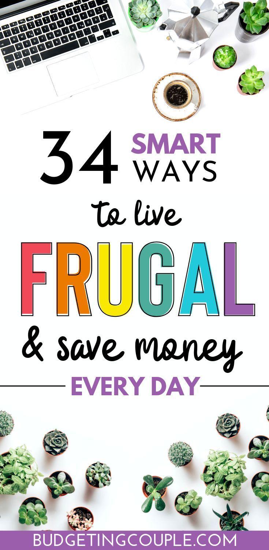 Frugal Living Guide: 34 Tips to Live Frugally *While* Enjoying Life #startsavingmoney