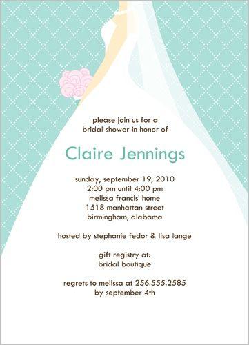 Wedding March Aqua Bridal Shower Invitation wedding ideas - free bridal shower invitation templates for word