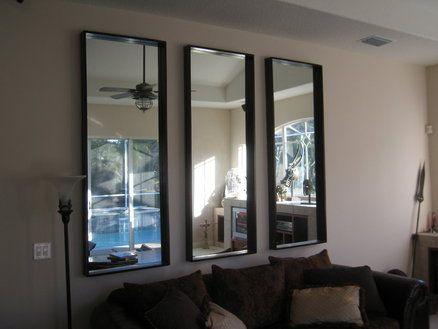 Pin By Janet Chaplin On Future Home Ideas Multiple Mirrors On Wall Living Room Living Room Mirrors Mirror