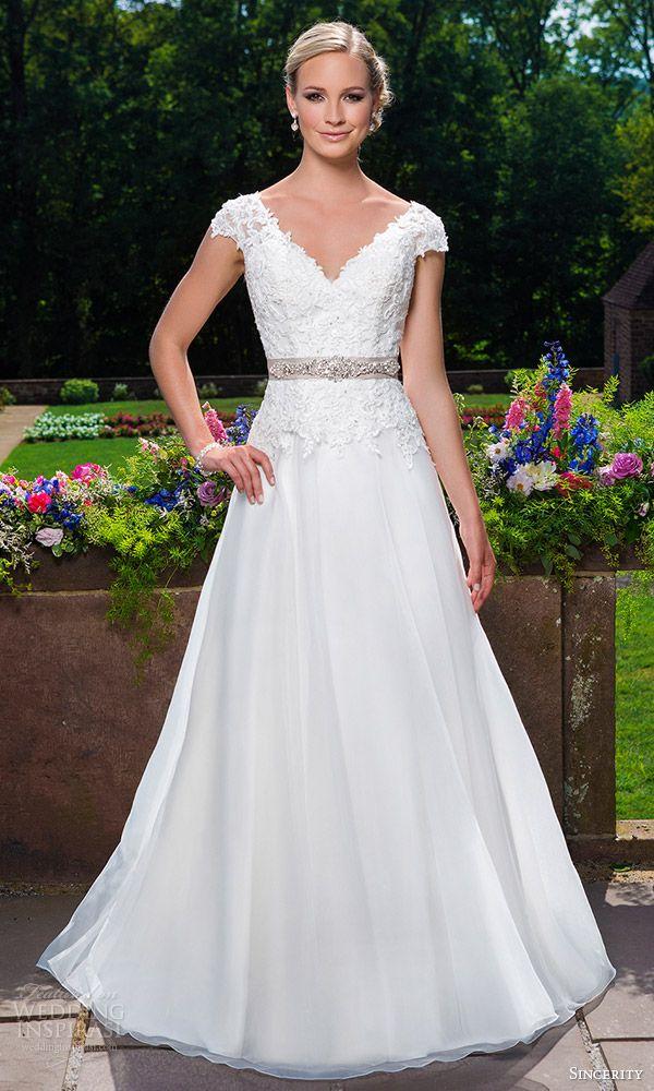 Cap Sleeve Organza A-line Gown