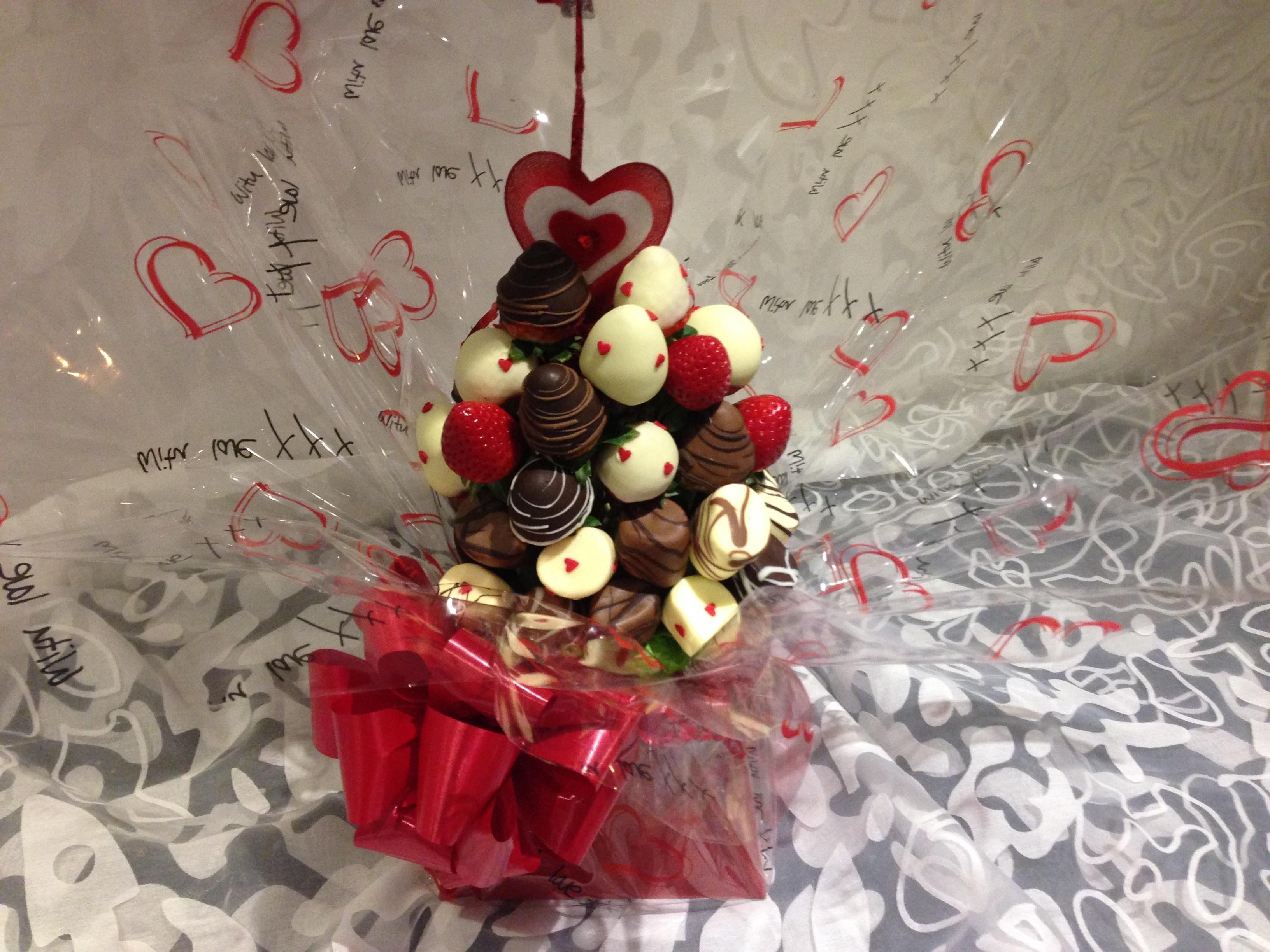 Sweet Flowers Chocolate Strawberries Bouquet Choice Image - Flower ...