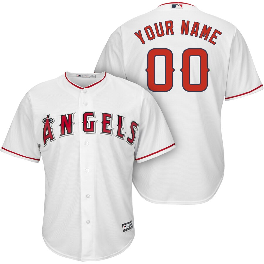 Men S Los Angeles Angels Majestic White Cool Base Custom Jersey In 2020 Custom Jerseys Los Angeles Angels Custom Baseball Jersey
