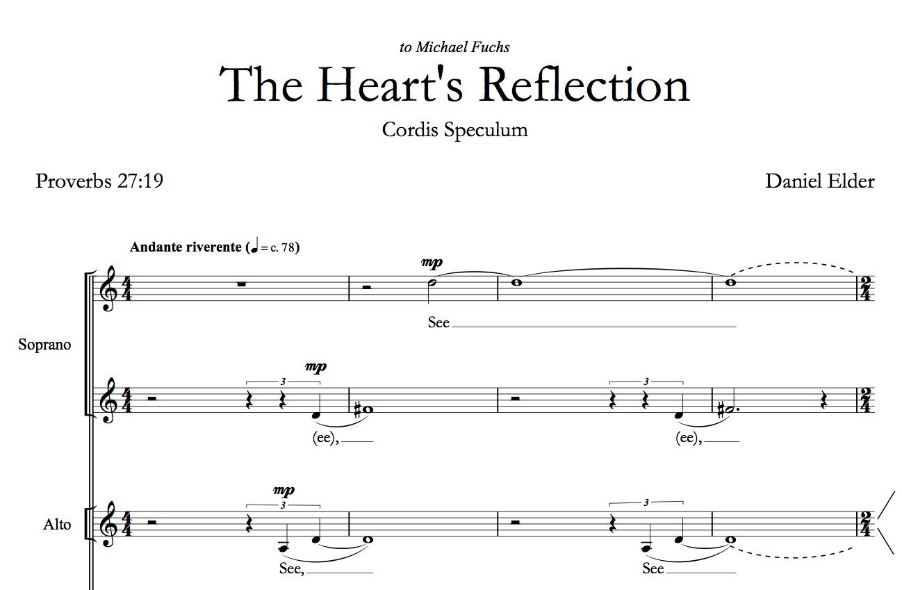 Daniel Elder The Hearts Reflection My Music Music