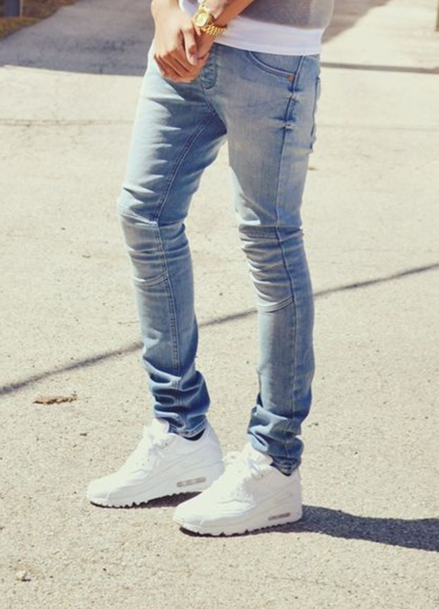 nike air max thea white men's jeans
