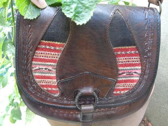 Kilim Crossbody Bag ethnic Bag handcraft Marocco Leather nwOv8m0N