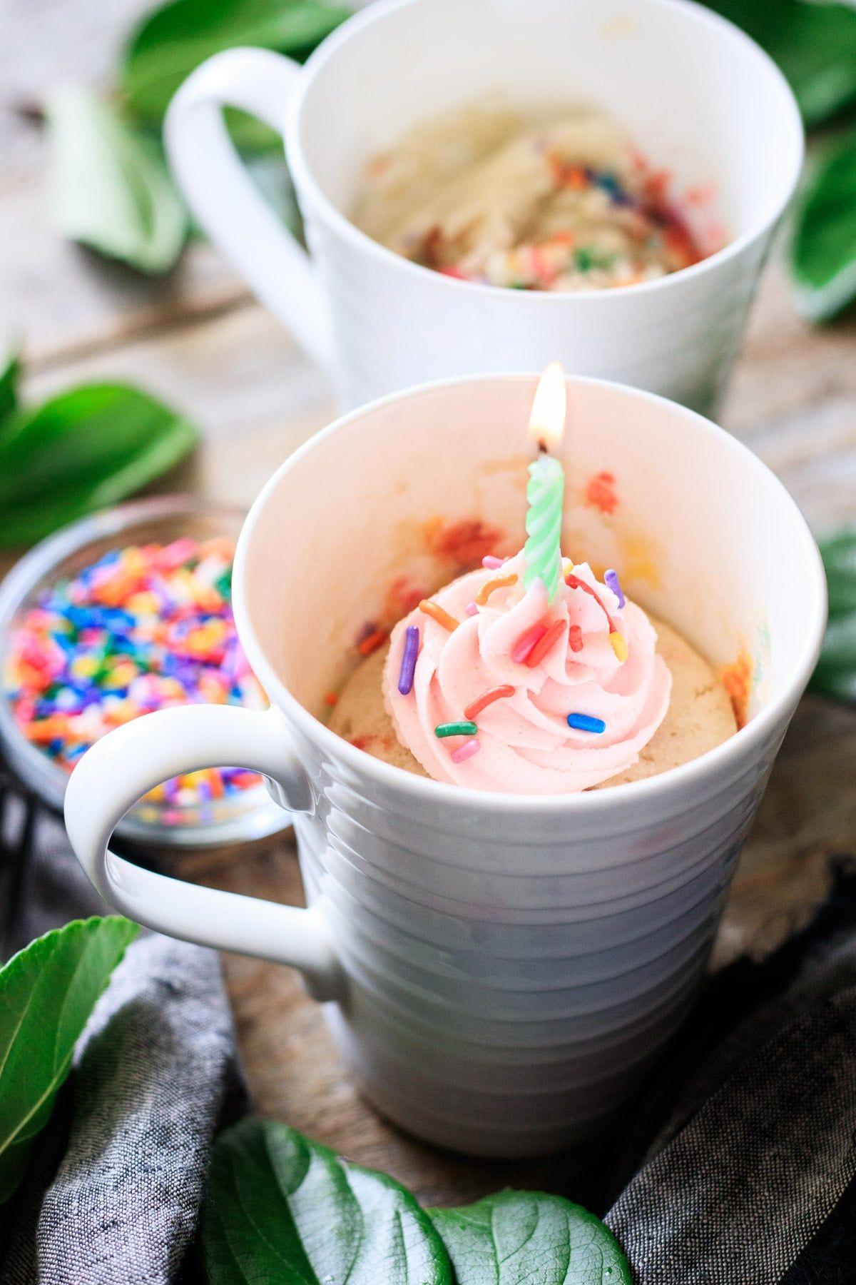 Funfetti Mug Cake | Recipe in 2020 | Funfetti mug cake ...