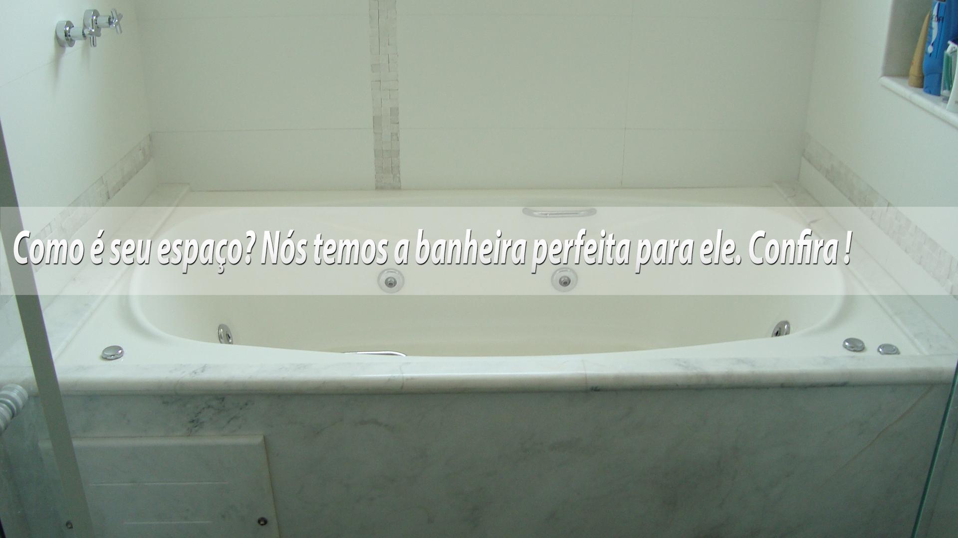 Banheira sem hidro Banheira hidro y Decoração para banheiro com #1B4A75 1920 1080