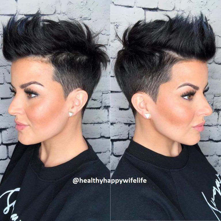 Kurze Dunkle Haare Kurzhaar Frisuren Frisuren Stil Haar Kurze Und Lange Frisuren In 2020 Kurze Dunkle Haare Kurze Haare Frisur Ideen Dunkle Haare