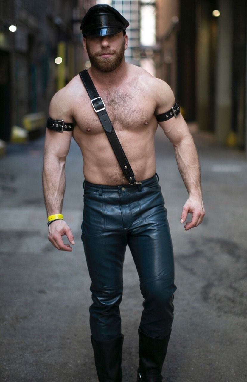 Leather Cops Leather Pants Tight Leather Pants Leather