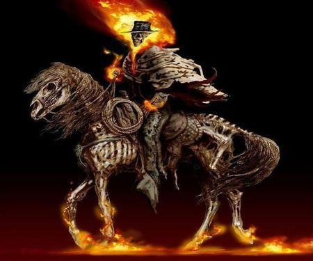 Ghost Rider Horseman |A little HAlloween for my cowboy ...
