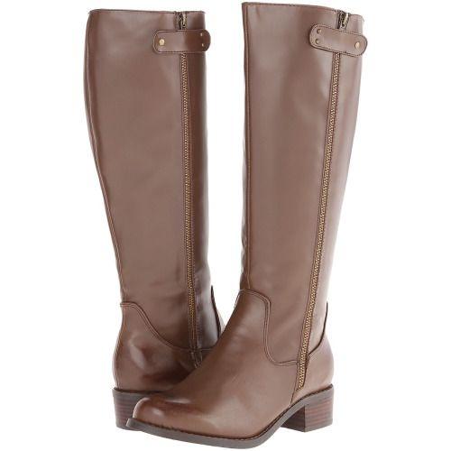Fitzwell - Durham Wide Calf (Cocoa) Women's Dress Zip Boots