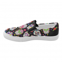 bfdf106f4234e5 InterestPrint Cool Sugar Skull Casual Slip-on Canvas Women s Fashion  Sneakers Shoes