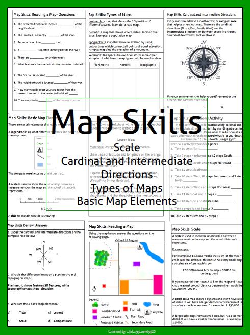 Pin By Lisa Watkins On Worksheets Map Skills Teaching