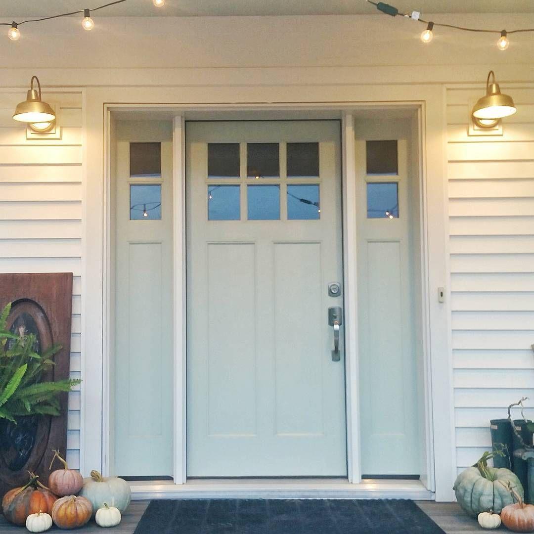 Bm Palladian Blue Palladian Blue Craftsman Front Doors Blue Front Door