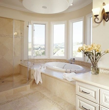 Bathroom Crema Marfil Contemporary Bath And Spa Accessories