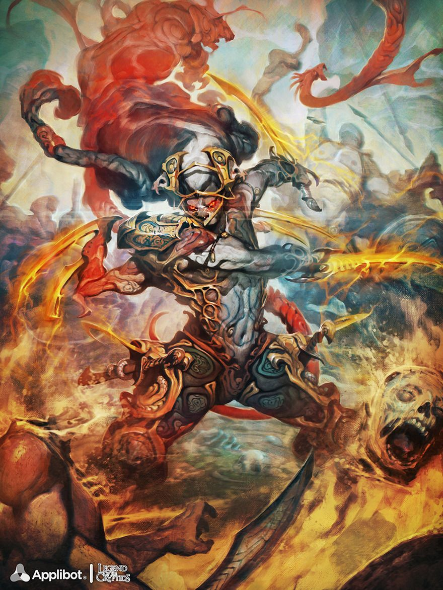 Artist: Reynan Sanchez aka artizako - Title: Pharnaces, Blaze Commander adv - Card: Pharnaces, Blaze Commander (Enmity)