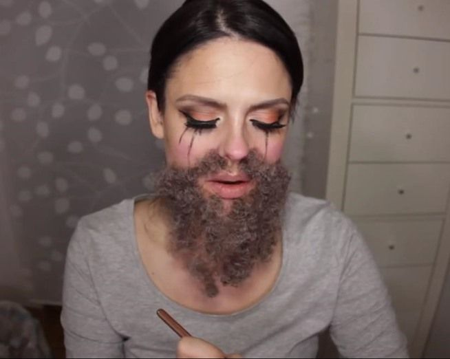 AHS Freak Show DIY Ethel Darling (The Bearded Lady) Makeup FX for Halloween  sc 1 st  Pinterest & AHS Freak Show: DIY Ethel Darling (The Bearded Lady) Makeup FX for ...