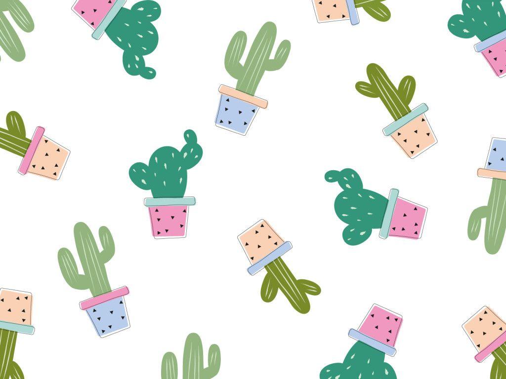 Wallpaper Computer Cactus Tumblr