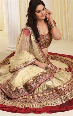 Picture of Fashionable Chikoo  Color Fashion Designer Choli