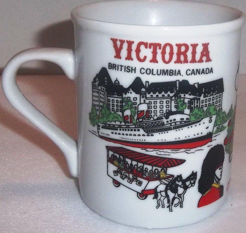 Vintage Victoria British Columbia Canada Coffee Mug Travel Souvenir Things To Do
