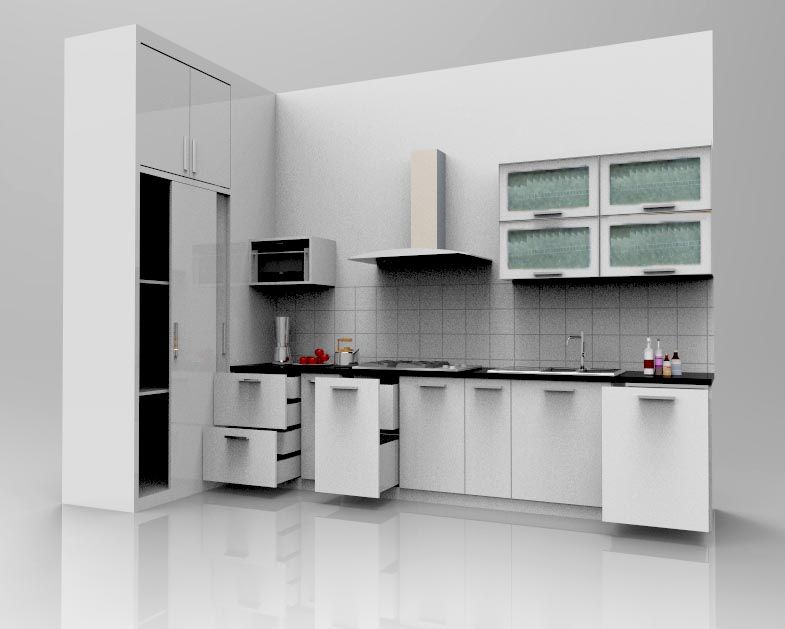 desain kitchen set minimalis Fokusfurniturecom kitchen set