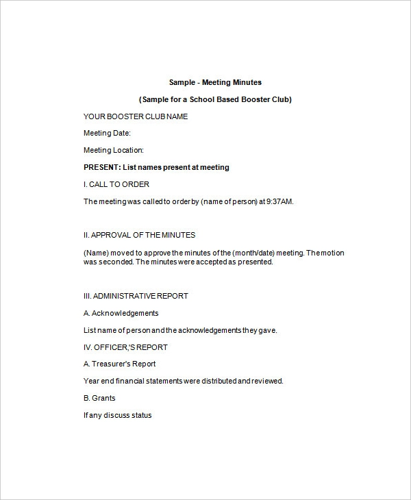 11+ free meeting minutes templates word, excel & pdf impressive career objective sample resume for nurses with experience doc template download
