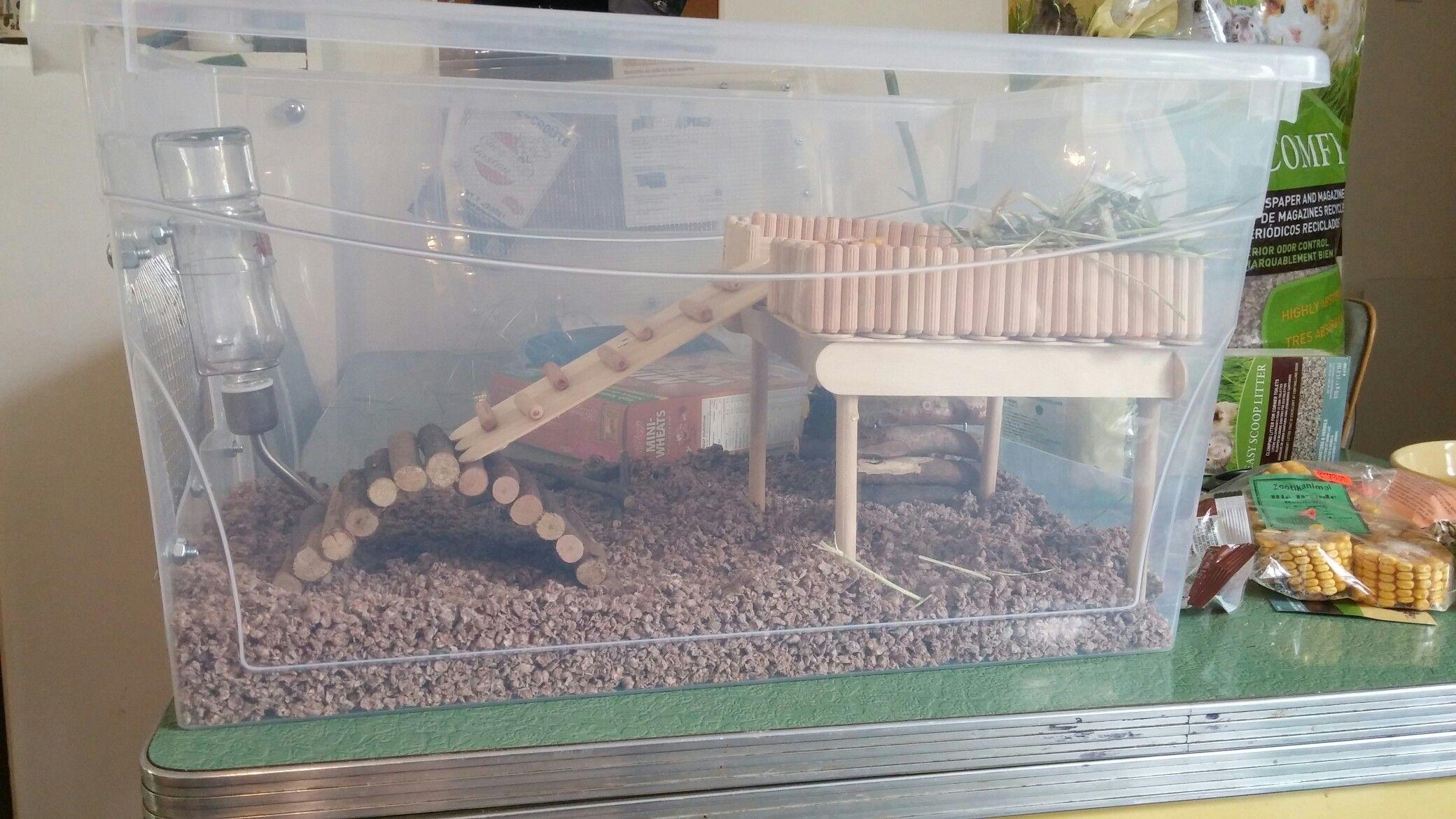 Hamster Bin Cage In Progress Hamster Diy Hamster Bin Cage Hamster Toys