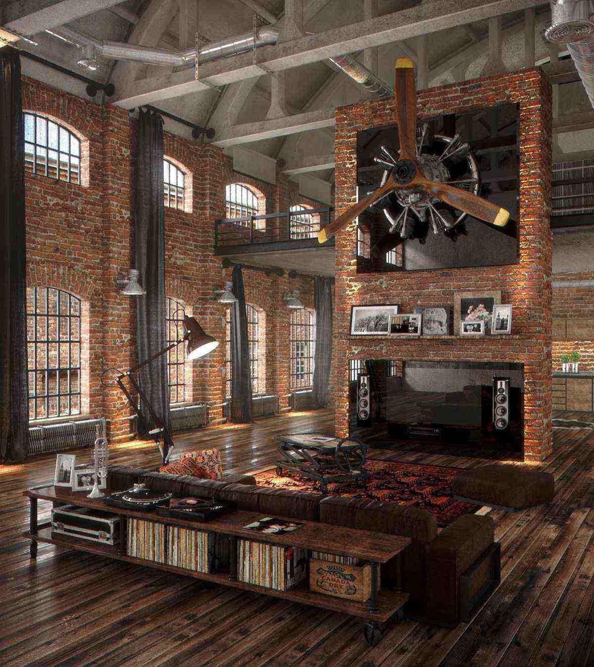 Amazing loft guys ultimate bachelor pad with brick walls