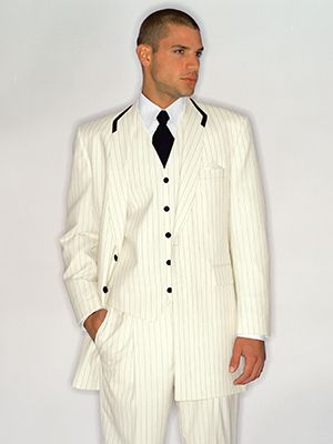 white pinstripe suit costume-FABRIC | wedding gown ideas ...
