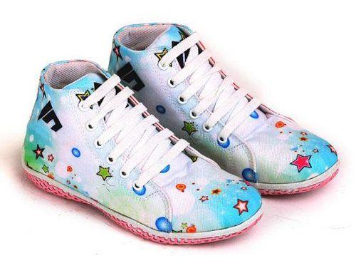 Sepatu Anak Cewek Langit Biru Ceria Sepatu Anak Cewek Langit Biru