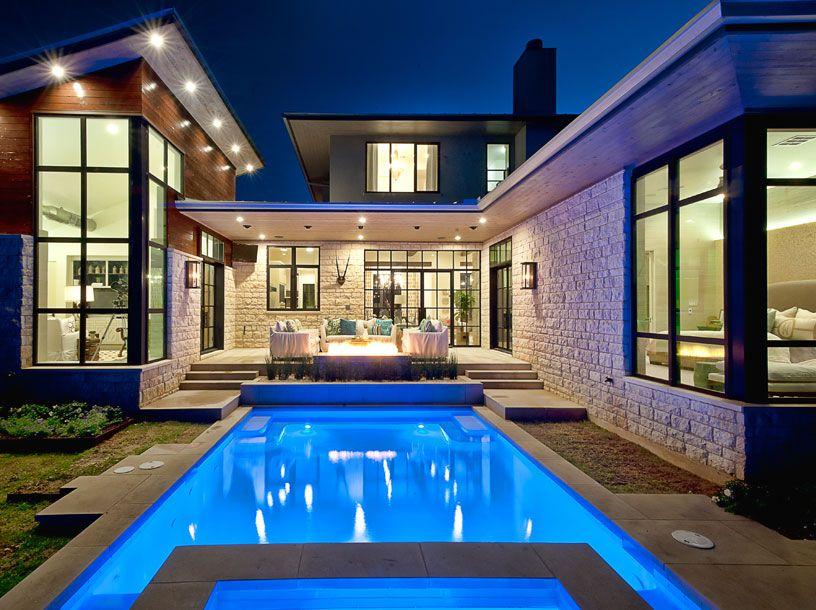 Cat Mountain Residence Cornerstone Architects Pool House Designs Luxury House Designs Villa Design