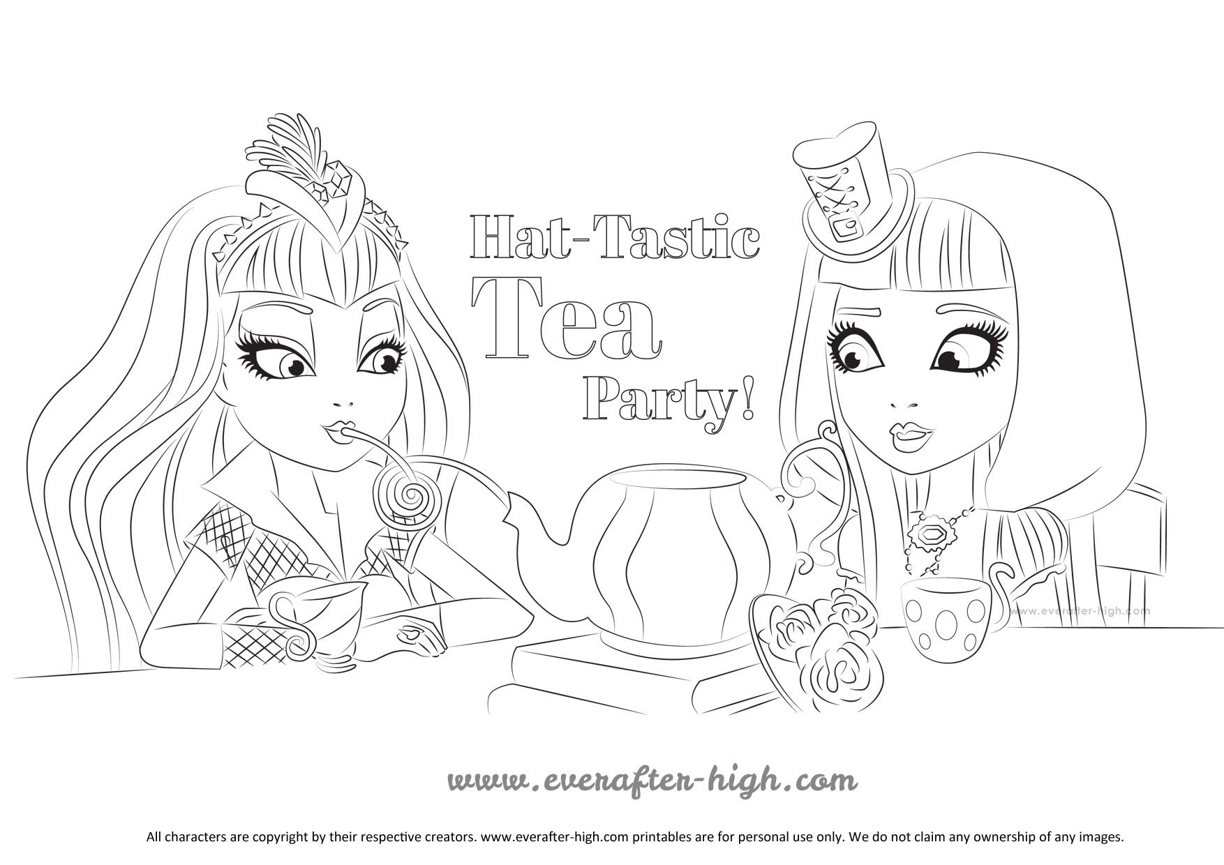 Ever after high cerise hood coloring pages getcoloringpages com