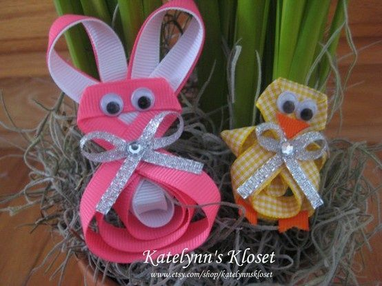 Easter hair clips