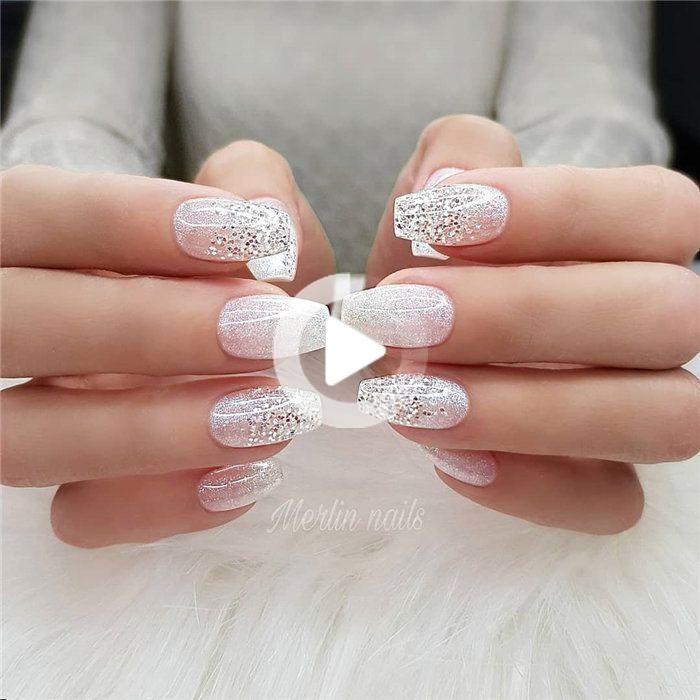 70 + Hochzeit Natural Gel Nails Design-Ideen für die Braut 2019